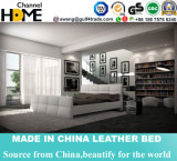 Modern Simple Design White Leather Bed for Bedroom (HC357)