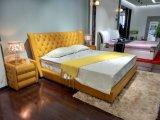 Bedroom Furniture Half Leather Soft Bed (SBT-32)