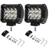 4′′ 72W LED Car Light, Work Light Waterproof for UTV, Truck, ATV, SUV, Jeep