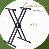 Heavy-Duty Double X Keyboard Stand Ks-2