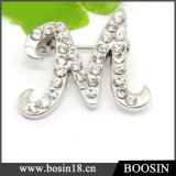 "Alloy ""M"" Alphabet Brooch China Wholesale #5353"