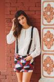Women Pleated Fashion Long Sleeve White Shirts