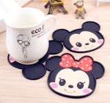 Promotion Gift PVC Mat Silicone Coasters for Cup