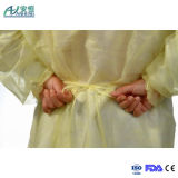 Yellow Isolation Gown Nonwoven Isolation Gown Tie-Back Disposable Isolation Gown