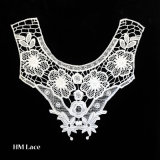 Guipure Lace Collar Applique, Water Soluble Chemical Neckline Applique Trim for Dress X062