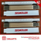 Stationery 200cm 10 Fold Wooden Foldable Ruler with Customized Logo