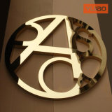 Decorative Golden Mirror Fabricated Stainless Steel Logo