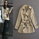 Best Sell Long Wind Jacket for Women Outerwear