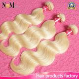 7 Day Return Gurantee Platinum Blonde Virgin Hair Weaving Russian European Hair