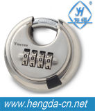 4 Digit Combination Discus Stainless Steel Padlock