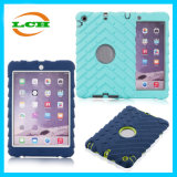 Rubber Three-Proof Silicon PC Armor Tablet Case for iPad