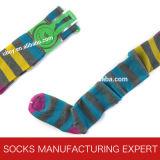 Woman High Quality Knee High Comb Cotton Sock (UBW-001)