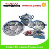 Casual Oriental Style Ceramic Dinnerware Set
