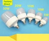 5W/10W/15W/20W/30W Plastic Aluminum LED Bulb with E27/B22