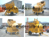 China Diesel Concrete Mixer with Hydraulic Hopper (JZR500)