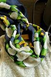 OEM Flower Pattern Silk Scarf