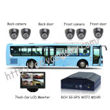 8CH 3G H. 264 Car Mdvr Camera Solution to Bus, with 3G WiFi for Remote Control
