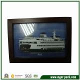 China Manufacturer Black Rectangle Wooden Photo Frame