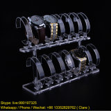 2 Tiers Acrylic Transparent Watches Display Rack