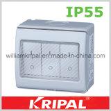 IP55 3 Gang 13A Double Pole Waterproof Switch
