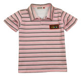 Striped Cotton Knitting Short Sleeve Children Polo Shirt