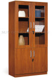 Two Glass Doors Bookcase, Wooden Filing Cabinet (SZ-FC006)
