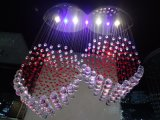 Hot Sale Multicolor Segment Jump LED Crystal Chandelier (GD-9041-4+3)
