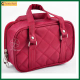 Fashion Red Polyester Tote Cosmetic Makeup Bag (TP-COB016)