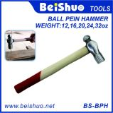 12~32oz Wooden Handle Carbon Steel Ball Pein Hammer