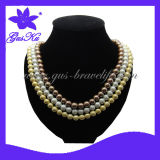 New Design Fashion Hematite Jewelry Necklace (2015Gus-Hns-030 Y)