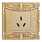 Diamond Hotel Brass Power Outlet with 24k Finish