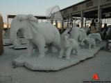 Animal Elephant Stone Statue / Sculptures for Exterior Garden