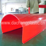 Red PMMA Extrusion Profile for Sinage
