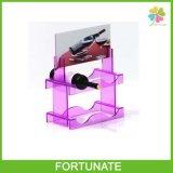 Purple Acrylic Wine Bottle Display Stand Homes Beer Holder