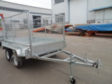 8′x5′ Heavy Duty Galvanized Tandem Box Trailers with Cage