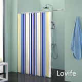 Shower Curtain Bathroom Waterproof Curtain (JG-221)