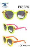 Light Flower Colorful Children Kid Plastic Sunglasses (PS1326)