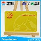 Standard Size Plastic Membership Card