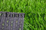 3 Tone All Green Spine Shape Artificial Lawn with 20mm Thickness