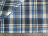 Blue/Navy/White/Charcoal Checks 125GSM 100% Cotton Yarn Dyed Fabric