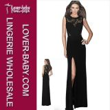 Woman Vintage Bridesmaid Long Evening Gown Dress (L51169-2)