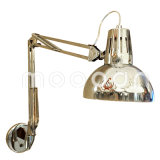 Modern Full Chrome Metal Foldable and Adjustable Double Arms Wall Lamp