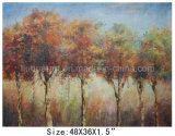 Abstract Red Tree Oil Painting on Canvas for Home (LH-545)