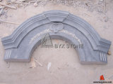 Blue Limestone Moulding Window Surround with Carving