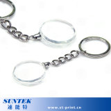 Wholesale Round Buckle Sublimation Keychain Crystal Pendant