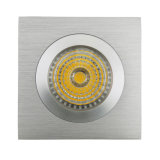 Lathe Aluminum GU10 MR16 Square Fixed Recessed LED Spotlight (LT2111A)