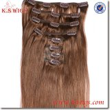 100% Real Indian Virgin Hair Clip in Hair Extension