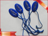 Garment String Hang Tag Plastic Seal Tag with String