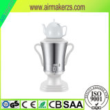 3.2L Stainless Steel Samovar with Pocerlain Teapot Ce, RoHS, GS