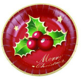 9 Inch Disposable Christmas Party Paper Plate
